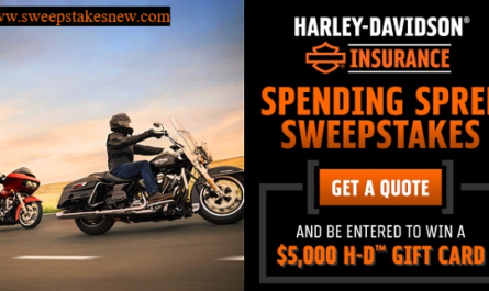 Harley Davidson Insurance Spending Spree Sweepstakes