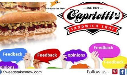 Capriotti's Feedback Survey