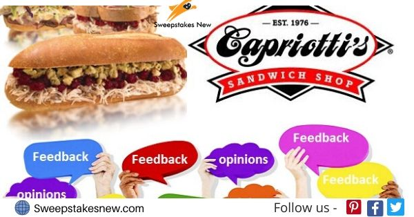 Capriotti's Feedback Survey