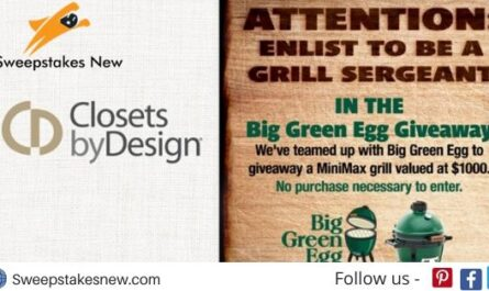 Closets By Design Big Green Egg Giveaway