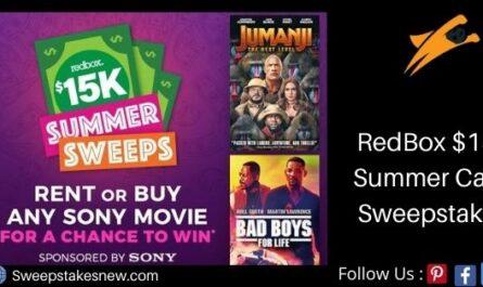 RedBox $15k Summer Cash Sweepstakes