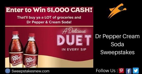 Dr Pepper Cream Soda Sweepstakes