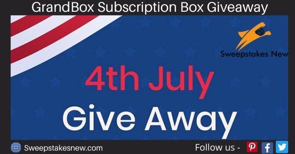 GrandBox Subscription Box Giveaway