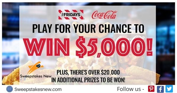 Coca Cola Win With Fridays Sweepstakes and Instant Win Game