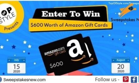 Topofstyle $600 Amazon Gift Card Sweepstakes