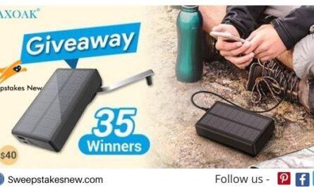 MAXOAK Solar Power Bank Giveaway
