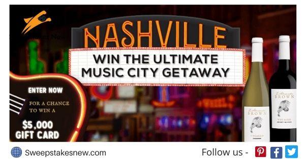 Z. Alexander Brown Wines Ultimate Music City Getaway Sweepstakes