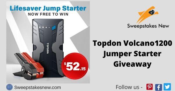 Topdon Volcano1200 Jumper Starter Giveaway