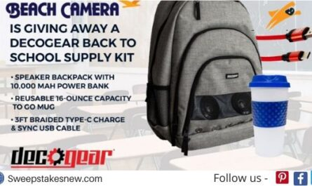 Beach Camera DecoGear Back To School Giveaway