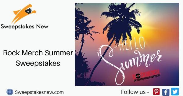 Rock Merch Summer Sweepstakes