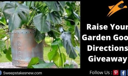 Raise Your Garden Good Directions Giveaway