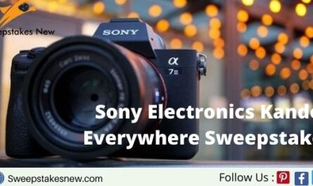 Sony Electronics Kando Everywhere Sweepstakes