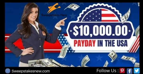 PCH $10000 Payday In USA Sweepstakes