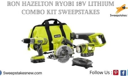 Ron Hazelton Ryobi 18V Lithium Combo Kit Sweepstakes