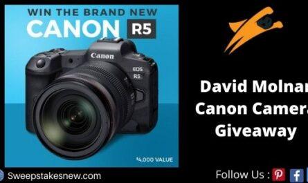 David Molnar Canon Camera Giveaway