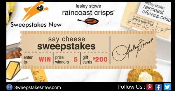 Lesley Stowe Say Cheese Sweepstakes
