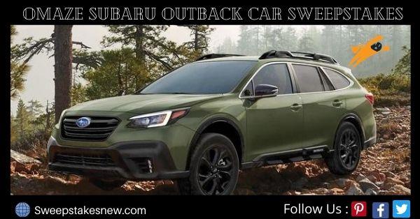 Omaze Subaru Outback Car Sweepstakes