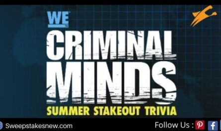 WE Tv Criminal Minds Summer Stakeout Trivia Contest