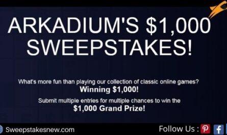 Arkadium $1,000 Summer Sweepstakes