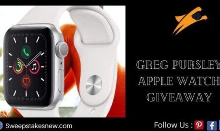 Greg Pursley Apple Watch Giveaway