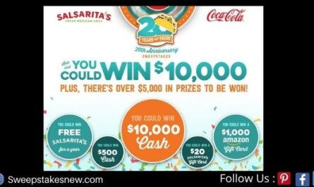 Salsarita's 20th Anniversary Sweepstakes