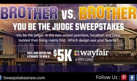 HGTV You Be The Judge Sweepstakes