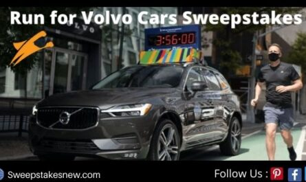 Run for Volvo Cars Sweepstakes