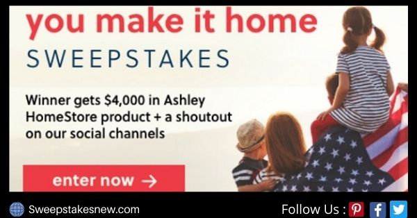 Ashley Furniture You Make It Home Sweepstakes