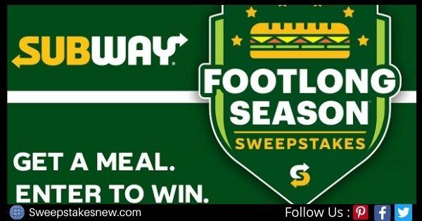 Subway Sweepstakes on FootlongSeasonSweeps.com