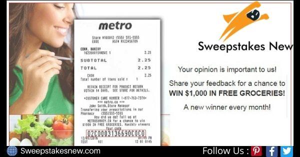 Metro Ontario Customer Survey Contest
