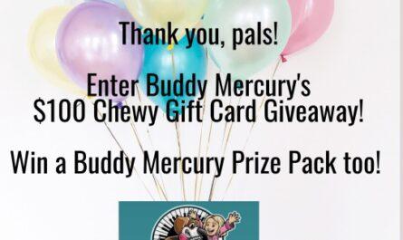 Buddy Mercury $100 Chewy Gift Card Giveaway