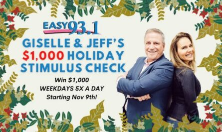 Giselle And Jeffs $1,000 Holiday Stimulus Check Keyword Sweepstakes
