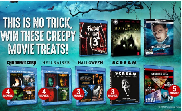 Paramount Home Entertainment Massive Creepy Movie Giveaway