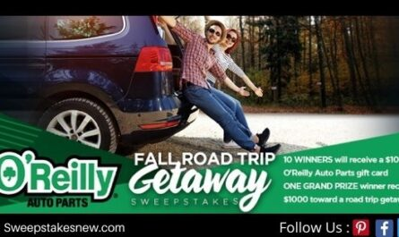 O'reilly Fall Road Trip Getaway Sweepstakes