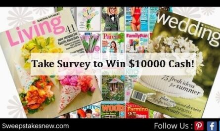 Meredith Magazines Reader Survey Sweepstakes
