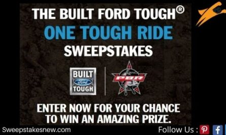 Ford.com Built Ford Tough One Tough Ride Sweepstakes