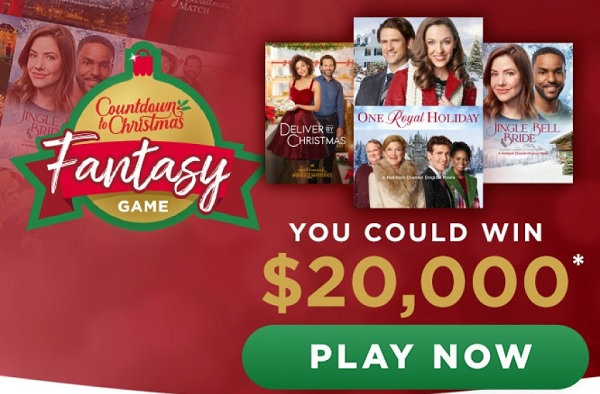 Hallmark Channel Countdown to Christmas Fantasy Game Sweepstakes
