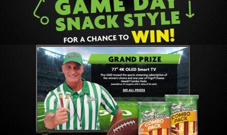 Frigo Cheese Heads Game Day Snack Style Sweepstakes
