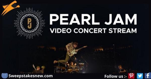 Pearl Jam Concert Web Stream Sweepstakes