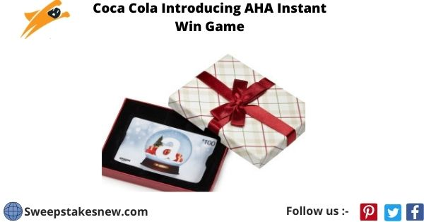 Coca Cola Introducing AHA Instant Win Game