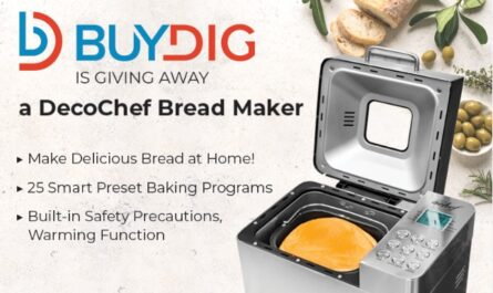 Buydig Deco Gear Breadmaker Giveaway