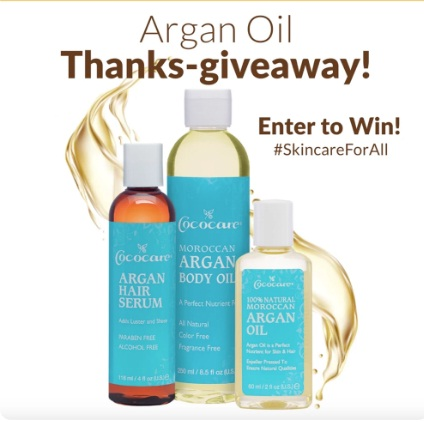 Cococare Products Argan Oil Thanks-Giveaway