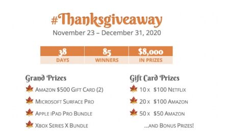 Jamie M. Timbre Thanksgiving Giveaway