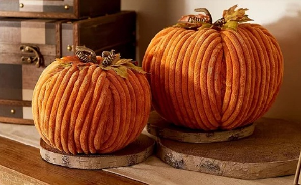 BHG Decorative Pumpkins With Leaves Daily Sweepstakes