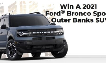 PCH 2021 Ford Bronco Sweepstakes