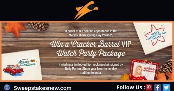 The Cracker Barrel VIP Watch Party Contest