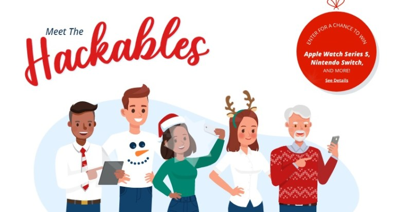 McAfee Meet The Hackables 2020 Holiday Sweepstakes