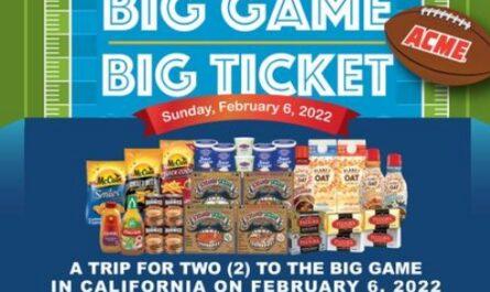 ACME 2021 Big Game Big Ticket Sweepstakes