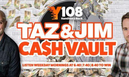 Y108 Taz & Jim Cash Vault contest