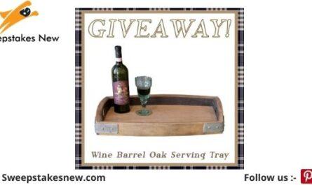Woodwaves Oak Serving Tray Giveaway